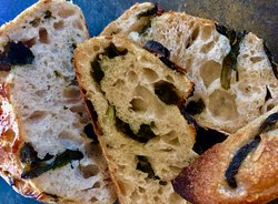 Choose from a variety of Green Rabbit breads and pastries.