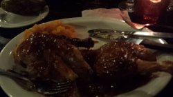 Duck covered in a sauce that made the skin like mush