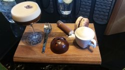 coffee based afternoon tea at bar next to lobby