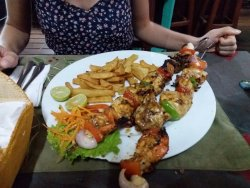 fish skewers dish for 1 !!
