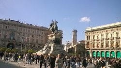 Monument to Vittorio Emanuele II at the Duomo square in Milan