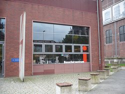 Besucherzentruim im Landschaftspark Duisburg Nord.