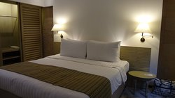 Bedroom in Deluxe Pool Suite