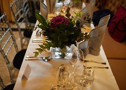 The tables were beautiful.