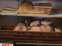 Homemade bread in pettineo