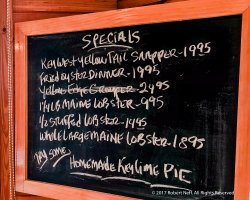 Seafood specials that night