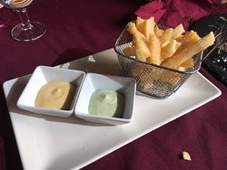 Delicious Yuca fries and other tapas.