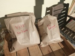 Yummy packed lunches! Best on the track, lasted us 2 days!