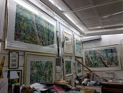 Michael Adams Paintings Studio