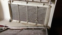 Missing filter in AC unit.