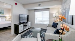 Separate bedroom. Enjoy 300 DirecTV channels, a DVR and high-speed internet.