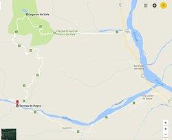 Mapa del camino ENTRAR POR VILLA DE REYES y salir por YALA