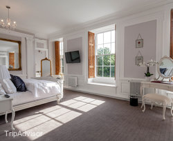 The White Feature Room at the Best Western Beamish Hall Country House Hotel