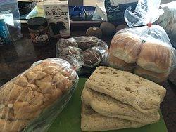 Azucar and panini herb largo bread!