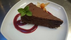 Our Chocolate Torte is to die for!