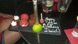 Thaks Paul for the birthday surprise