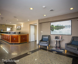 Lobby at the SureStay Hotel by Best Western North Vancouver