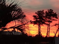 Typical sunset at Barry's on Dowdy's Bay Currituck Sound NC