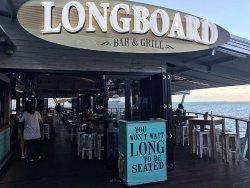 Entrance of Longboard's in Townsville