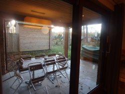 outside dining area (a tad chilly in winter) BBQ and sauna