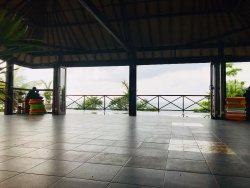 Yoga studio with view