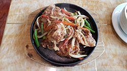 Pork Chop with Black Pepper Sauce