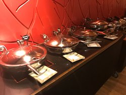 Hot foods on the buffet