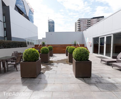 The Outdoor Swimming Pool & Terrace at the Amity Apartment Hotels – South Yarra