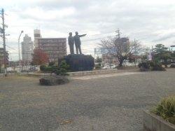 Ono Banboku Couple Bronze Statue