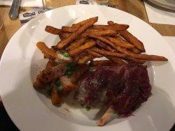 ham hock with sweet potato fries (not mash)