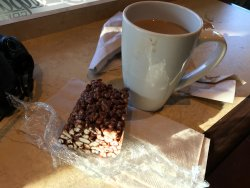 Good coffee, bad puffed wheat square