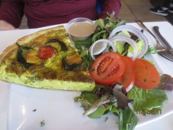 roasted vegetable quiche w/side salad
