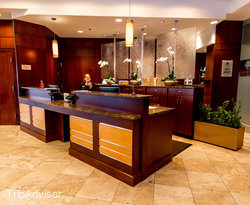 Front Desk at the Doubletree by Hilton Hotel Charlotte Gateway Village