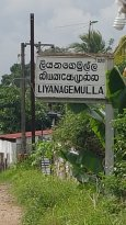 Lilyanagemulla railway station 50 meter walk, 20 cents to Colombo