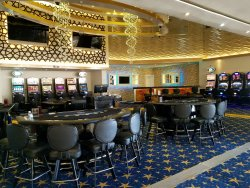 Casino is fairly small - only 12 machines and maybe 5 tables a