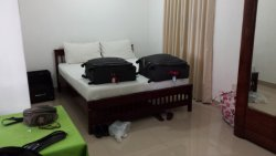 Bed in ground floor room