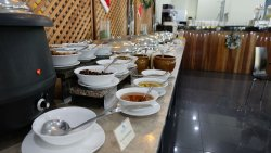 The international hot part of the breakfast buffet at Nadias. Great selection!