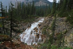 A waterfall on the way to Sherbrooke Lake