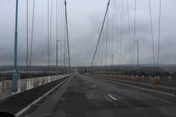 Crossing the Severn Bridge to get to Chepstow