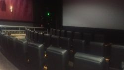 Oh dam they have long chairs thats what's up ive never been to a theather with long chairs defin