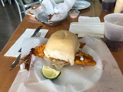The Fried Snapper Sandwich