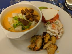 Essen im Buffet-Restaurant