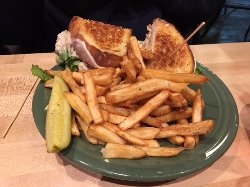 Melt Meatloaf sandwich and french fries