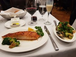 Absolutely delicious Salmon with side serve of Brocolli..simply the BEST.