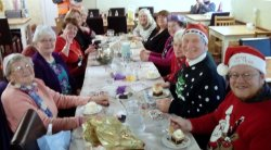 The Staff and volunteers from St Catherine's Shop in Driffield , Christmas Lunch