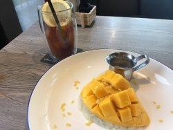 Mango & Sticky rice and Yuzu tea