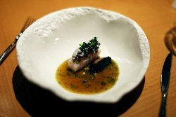 another broth/sauce that over packed the punch on this Pike dish with liver