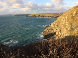 The view from the cliff top.