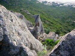 au pied d'une ancienne tour génoise en Corse... (295898211)
