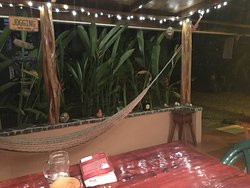 breakfast and hammock area